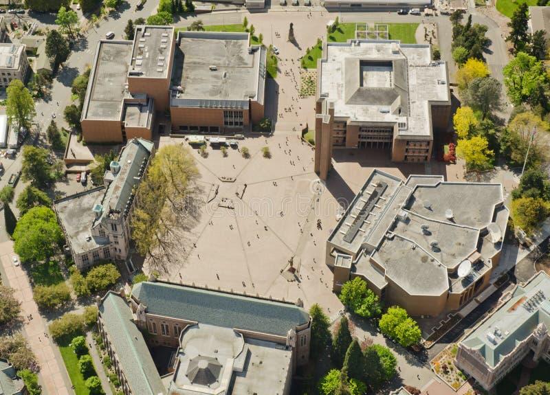 раскройте квадратный университет стоковые изображения rf