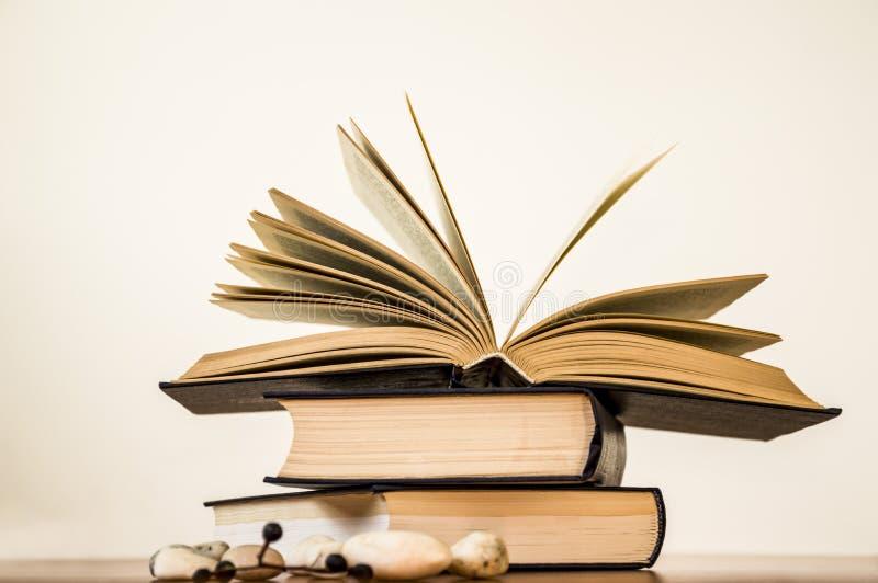 Раскройте книгу на светлой предпосылке стоковые изображения rf