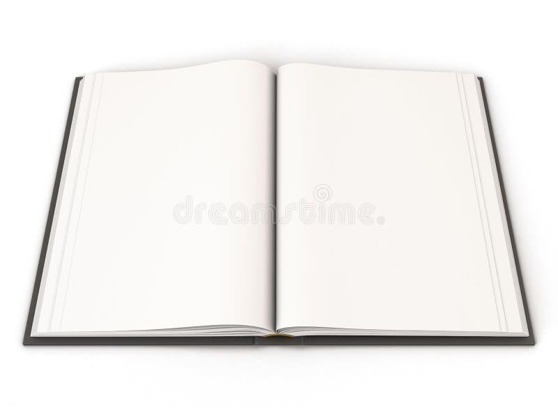 Раскройте книгу с черной крышкой иллюстрация вектора