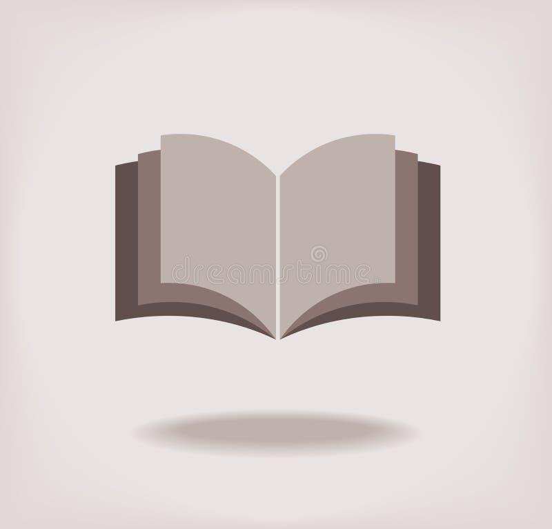 Раскройте книгу. иллюстрация штока