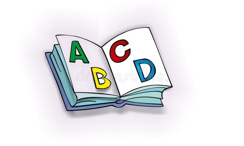 Раскройте книгу ABC стоковые изображения