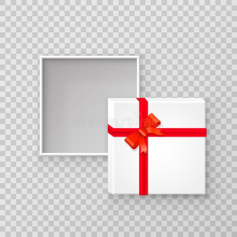 Раскройте коробку подарка бумажную квадратную иллюстрация штока