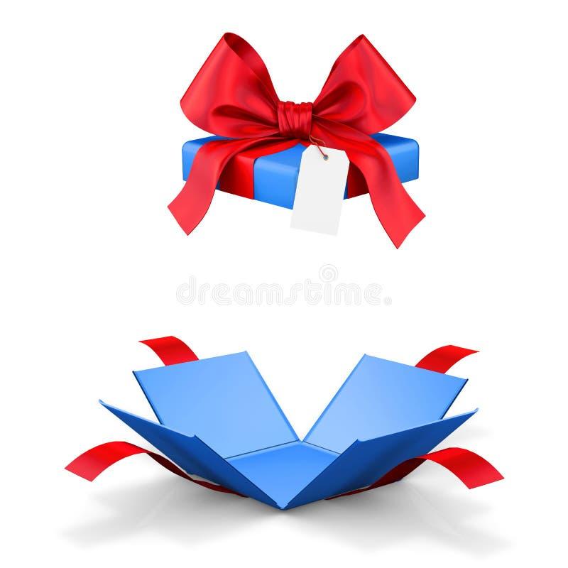 Раскройте коробку подарка иллюстрация вектора