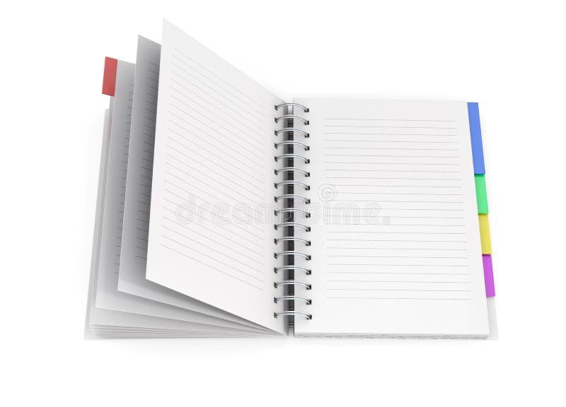 Раскройте дневник с весной иллюстрация вектора