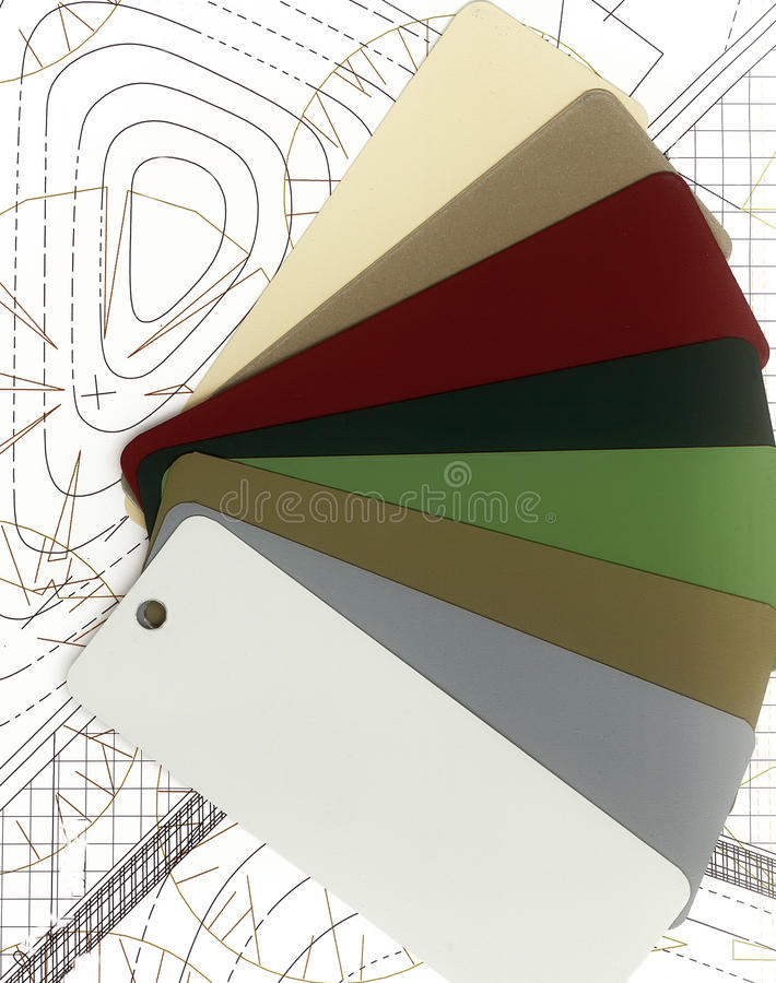 Раскройте палитру цвета. стоковое фото rf