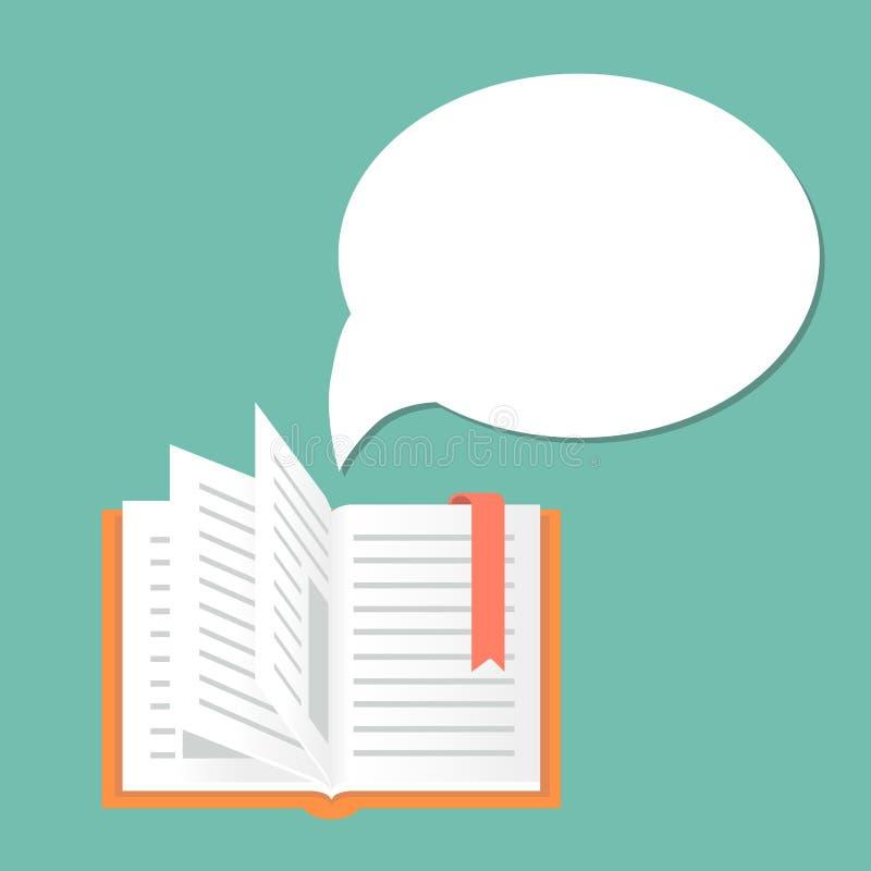 Раскройте предпосылку книги с пузырем речи бесплатная иллюстрация