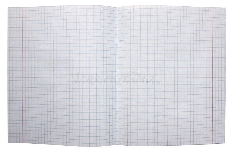 Раскройте тетрадь с приданными квадратную форму страницами стоковое фото