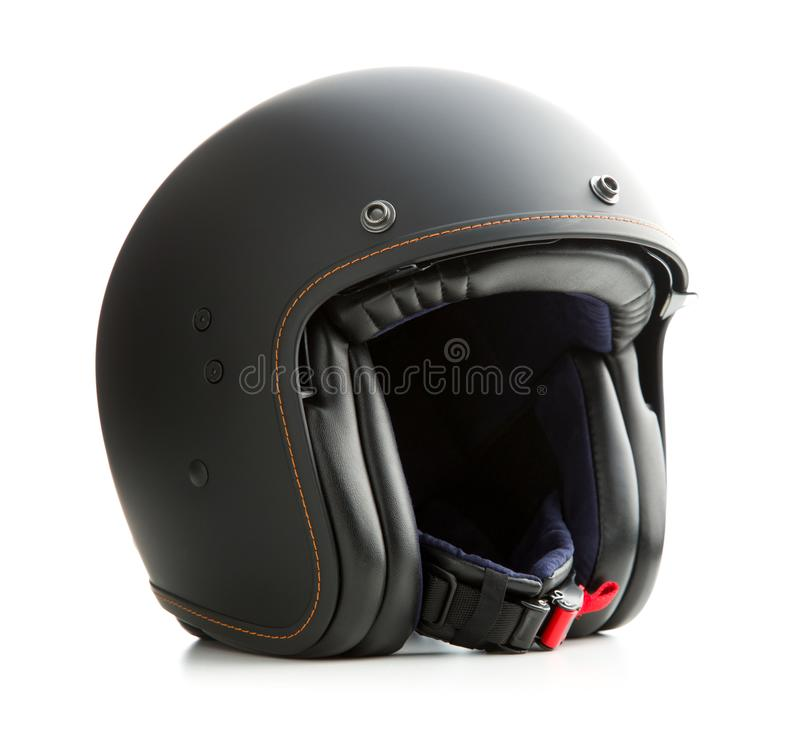 Раскройте шлем мотоцикла стороны стоковые изображения