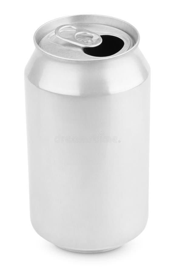 Раскрытая алюминиевая чонсервная банка соды стоковая фотография rf
