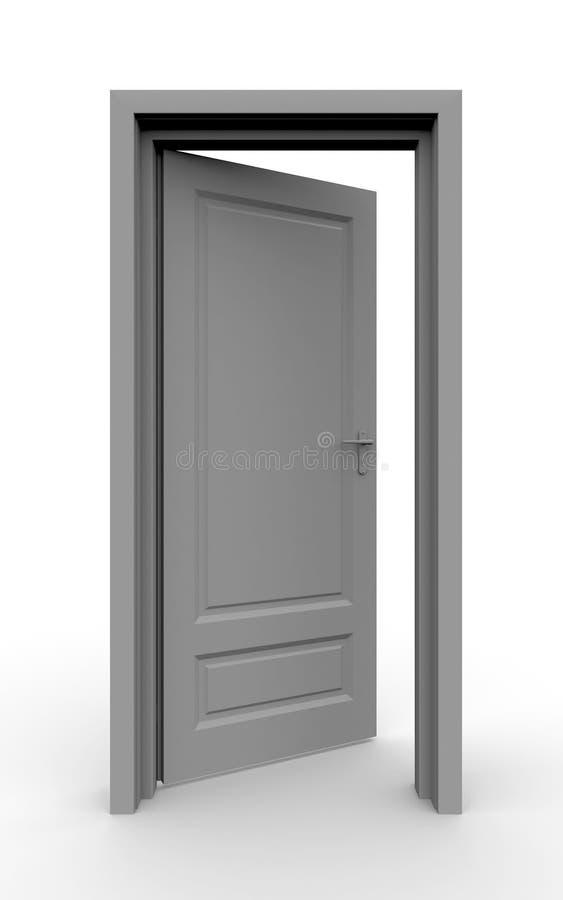 раскрытая дверь иллюстрация вектора