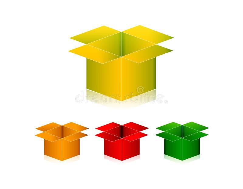 раскрытая коробка иллюстрация штока