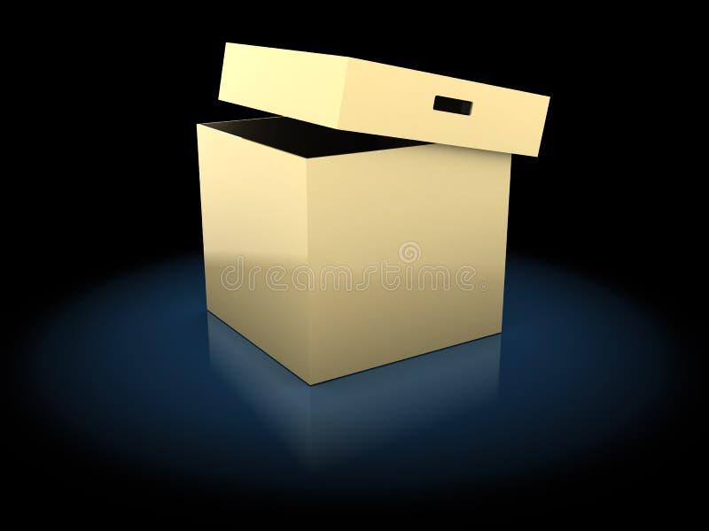 Раскрытая коробка иллюстрация вектора