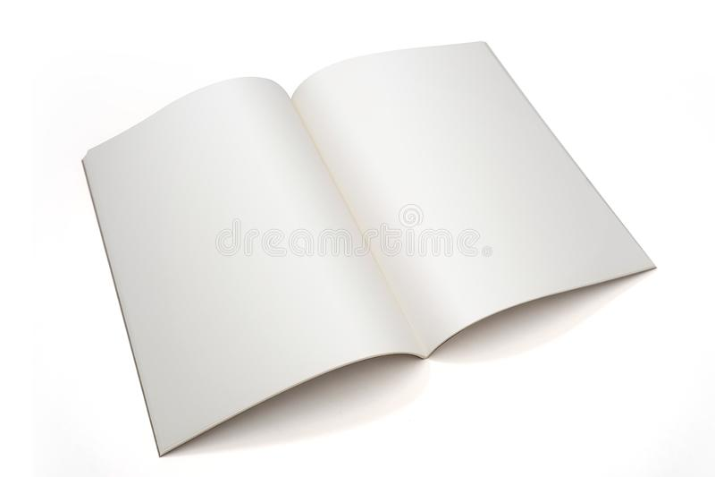 раскрытая обложка журнала тетради страницы брошюры книги пробела вер стоковая фотография