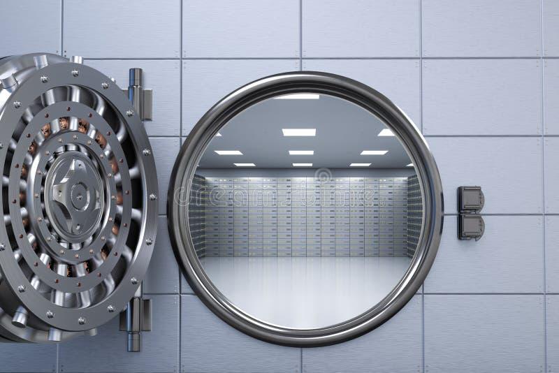 Раскрытое банковское хранилище бесплатная иллюстрация