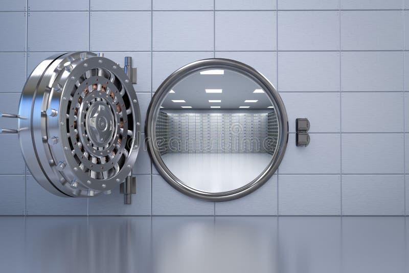 Раскрытое банковское хранилище иллюстрация вектора