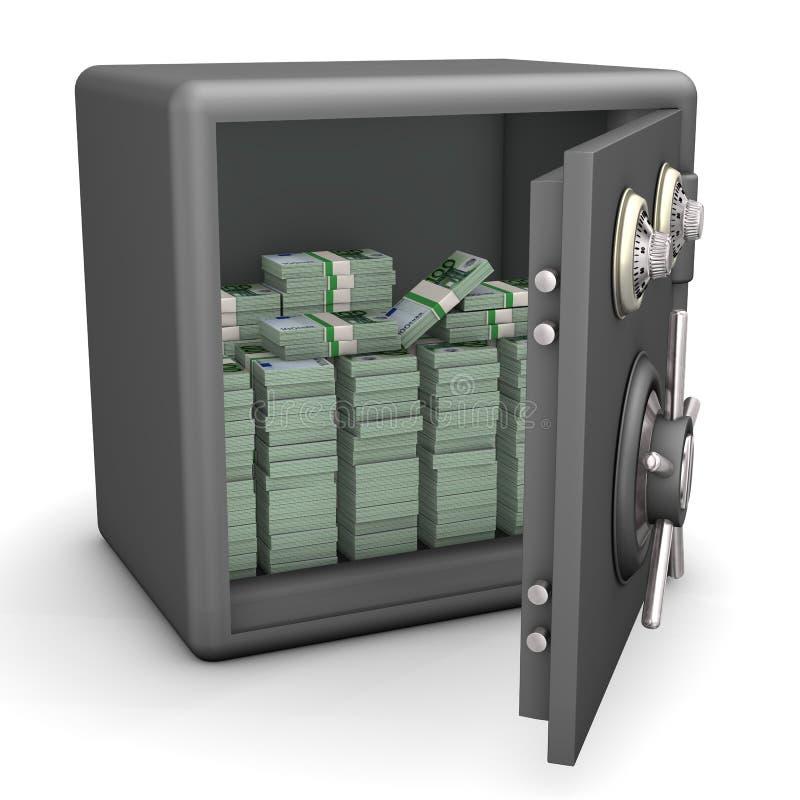 Раскрытые безопасные примечания евро бесплатная иллюстрация