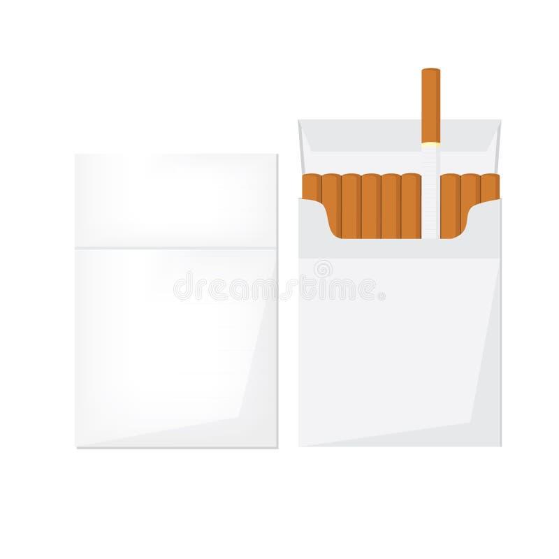 Раскрытый и закрытый пакет сигареты бесплатная иллюстрация