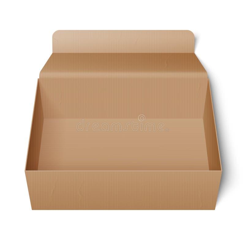 раскрытый картон коробки иллюстрация вектора