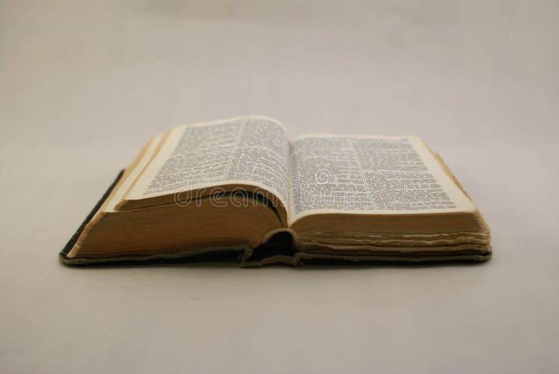 Раскрытый класть библии стоковые фотографии rf