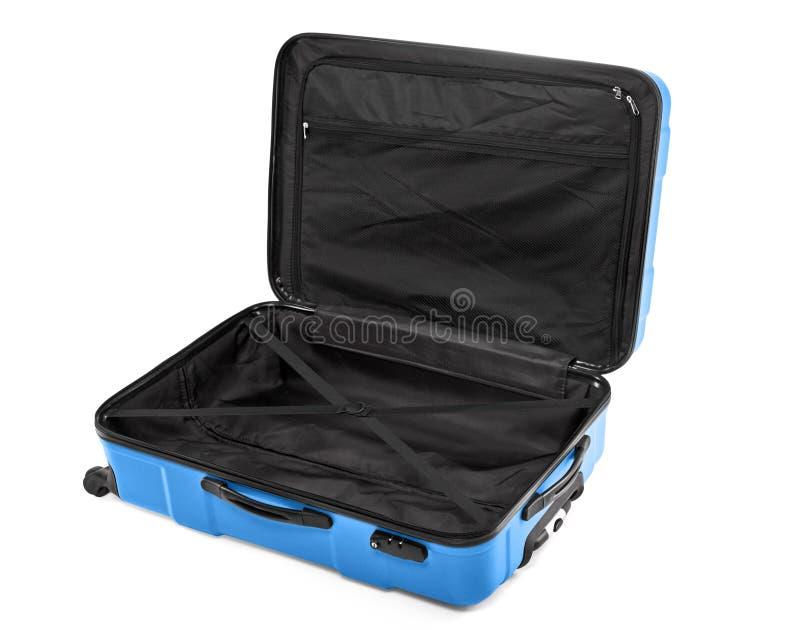 Раскрытый пустой чемодан стоковая фотография rf