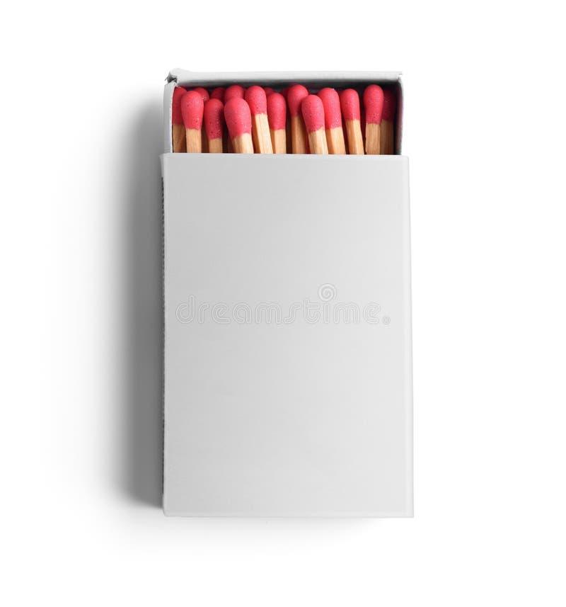 Раскрытый пустой matchbox стоковое изображение