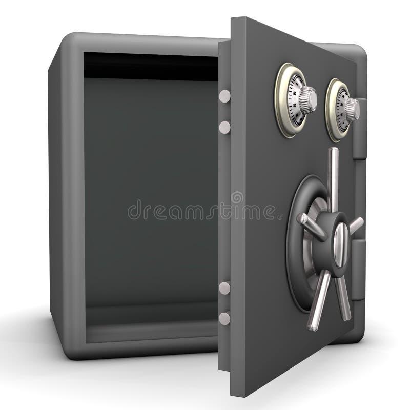 Раскрытый сейф иллюстрация штока