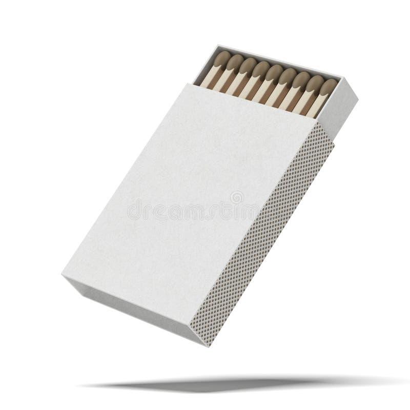 Раскрытый matchbox стоковая фотография