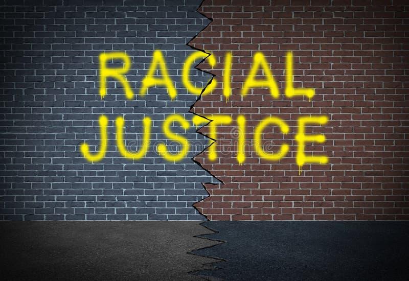 Расовое правосудие иллюстрация вектора