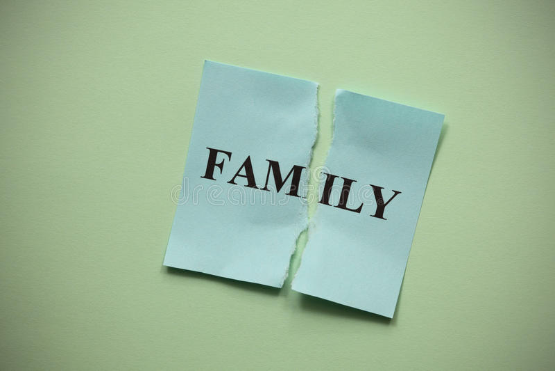 Распад семьи стоковое фото rf