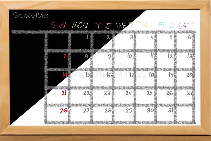Расписание красочное для ежемесячного примечания стоковая фотография rf