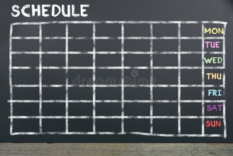 Расписание на доске для планировать стоковые фото