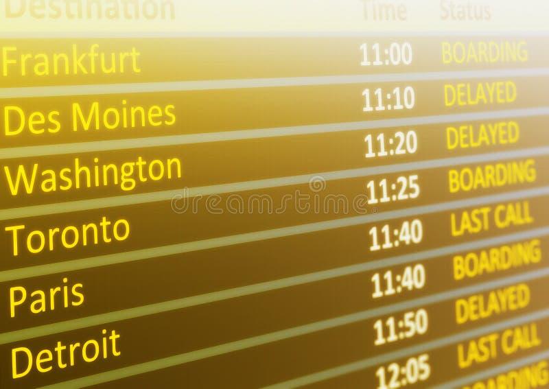 Расписание полетов иллюстрация штока