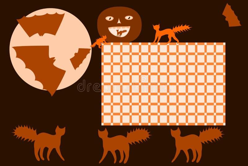 Расписание хеллоуин школы бесплатная иллюстрация