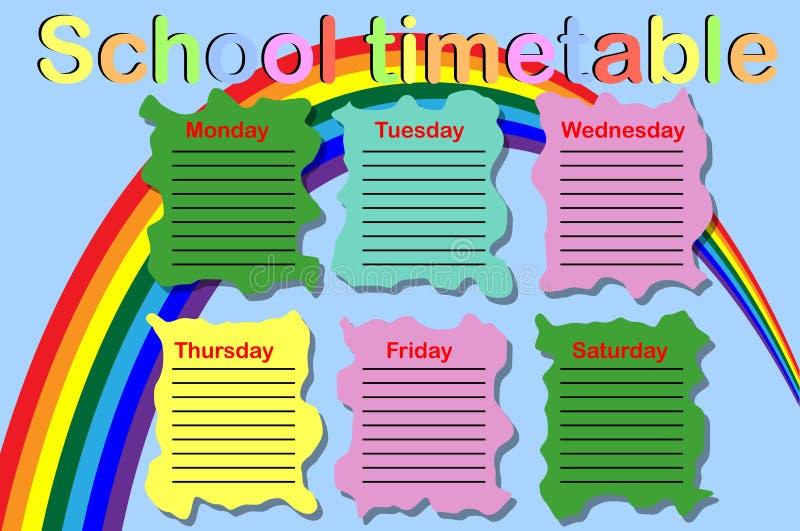 Расписание школы с консервными банками краски бесплатная иллюстрация