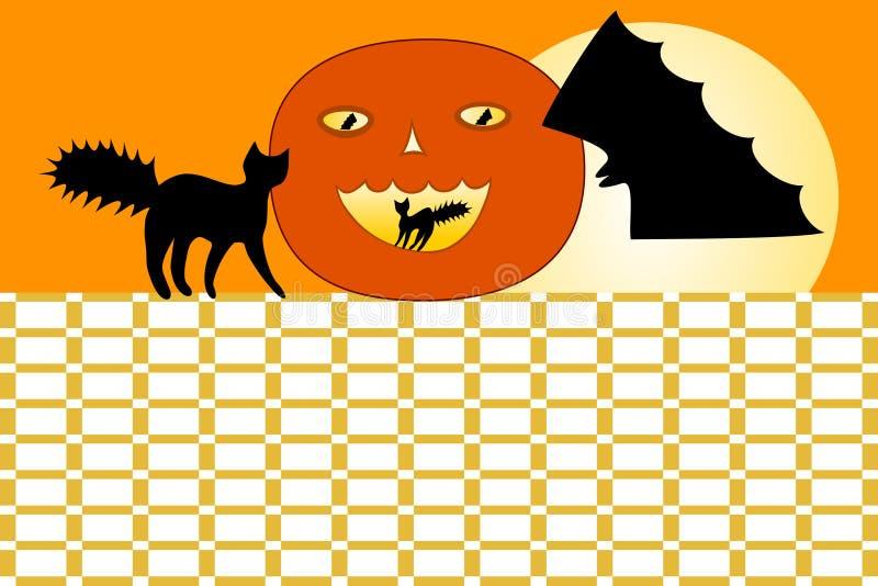 Расписание школы хеллоуина иллюстрация штока