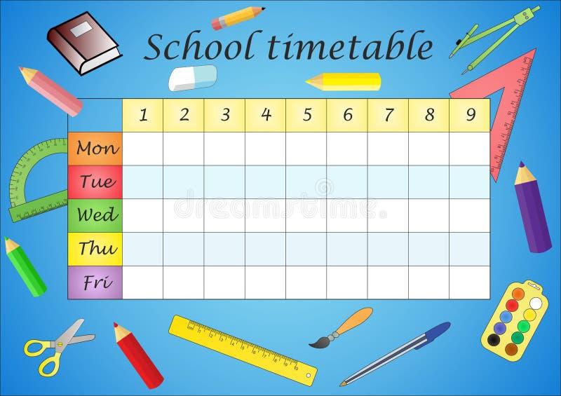 Расписание школы стоковая фотография rf