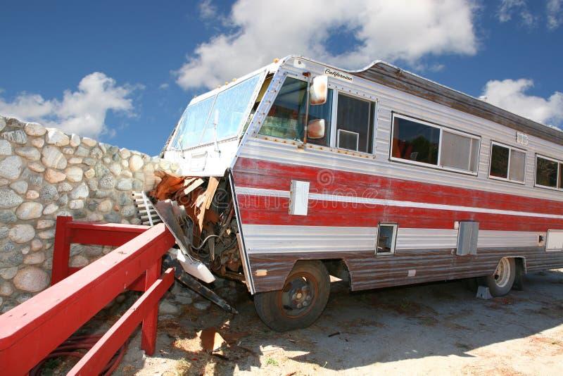 располагаться лагерем аварии стоковое изображение