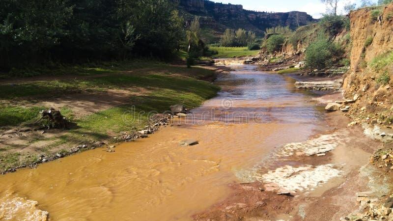 Располагаться лагерем потока праздника Лесото стоковые изображения