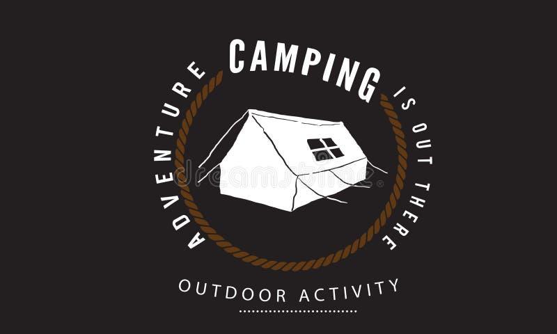 Располагаться лагерем приключения там, мероприятия на свежем воздухе бесплатная иллюстрация