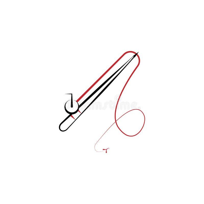 Располагающся лагерем, линия значок рыболовной удочки 2 покрашенная Иллюстрация элемента цвета простой руки вычерченная Располага бесплатная иллюстрация