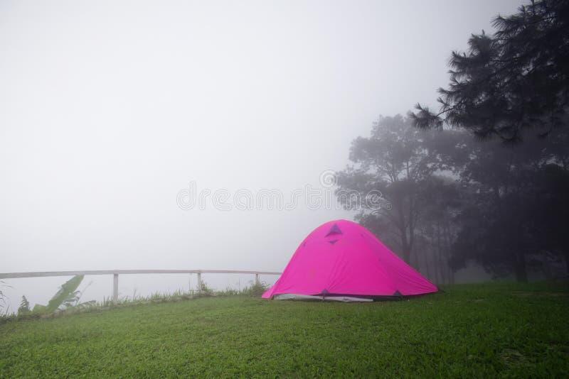 Располагаясь лагерем шатер в месте для лагеря стоковое фото rf