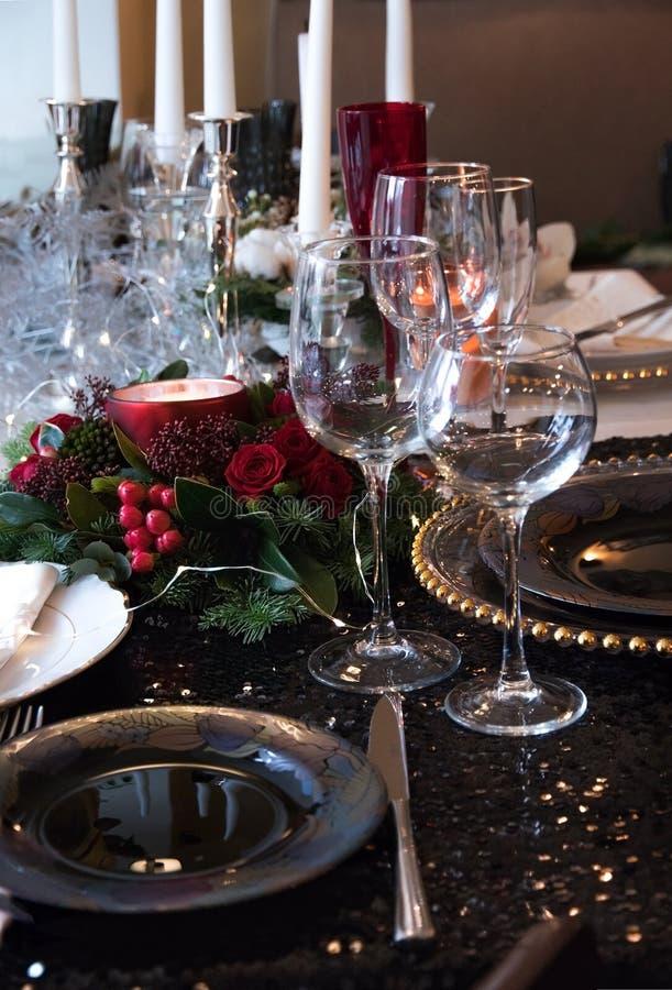 Расположение рождества на таблице стоковая фотография