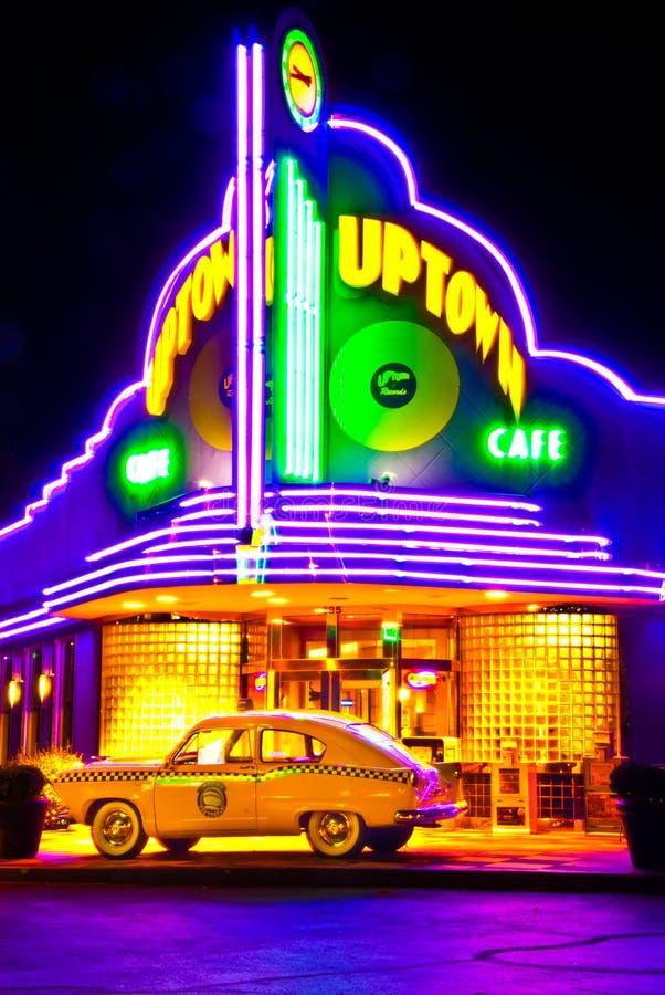 Расположенная на окраине города привлекательность Ozark кафа в Branson Mo стоковые фотографии rf