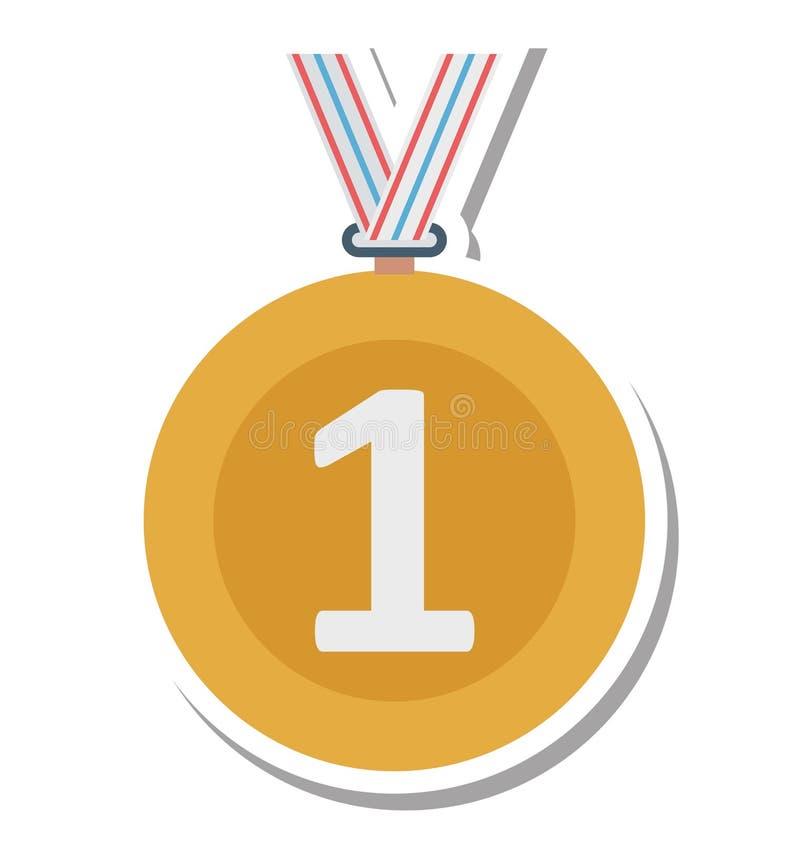Расположите изолированный медалью значок вектора Editable бесплатная иллюстрация