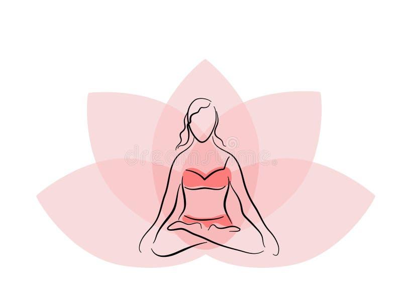 расположите йогу иллюстрация штока