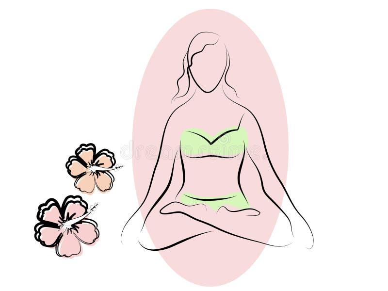 расположите йогу бесплатная иллюстрация
