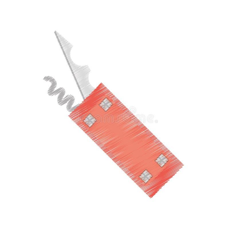 располагаться лагерем инструмента швейцарского ножа чертежа multi бесплатная иллюстрация