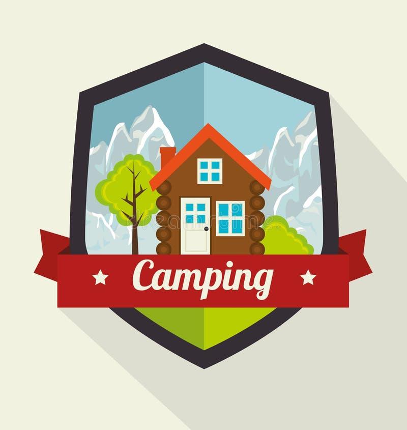 Располагаться лагерем и перемещение лета бесплатная иллюстрация