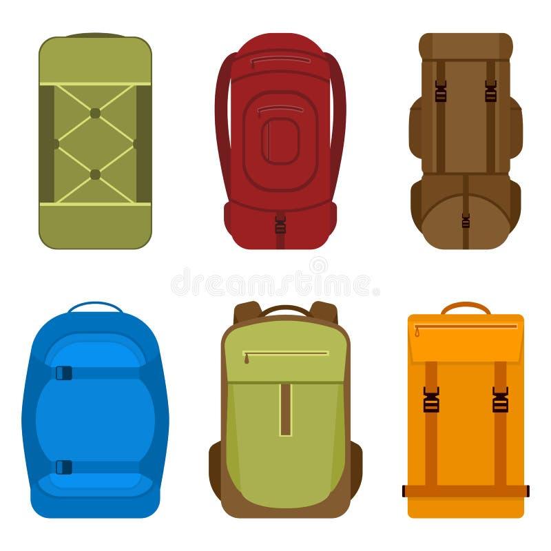Располагаясь лагерем значок вектора рюкзаков иллюстрация вектора