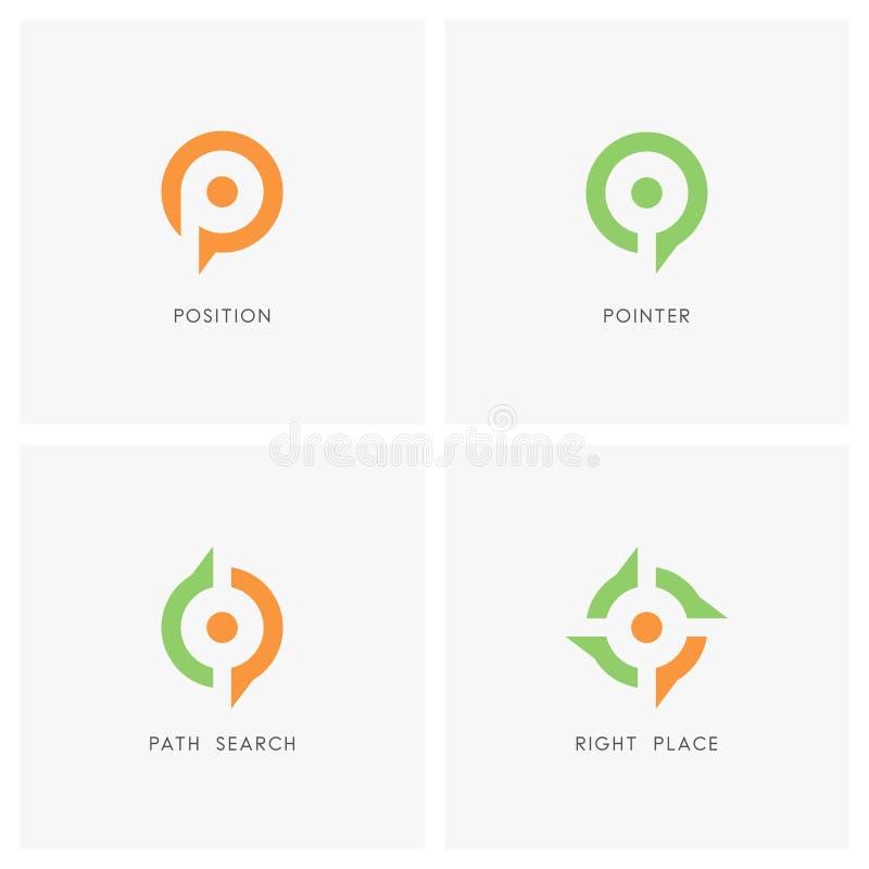 Расположите комплект логотипа указателя бесплатная иллюстрация